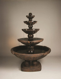 Henri Studio Cast Stone Spheres Five-Tier Fountain