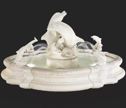 Cast Stone Grande Millennia Dolphin Fountain by Henri Studio