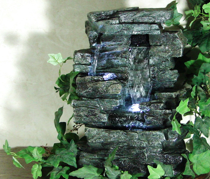 Rock Waterfall IndoorOutdoor Tabletop Fountain Picture 679