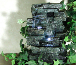 Alpine Tabletop Rock Waterfall Fountain