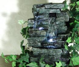 Alpine Tabletop Rock Waterfall Fountain