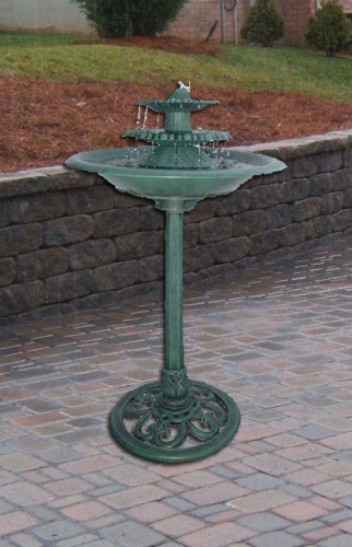 Alpine Avant Garden Three Tier Bird Bath Fountain Kitchen Photo