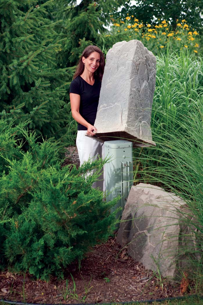 Fake Rock Pedestal Cover Model 113 Serenity Health