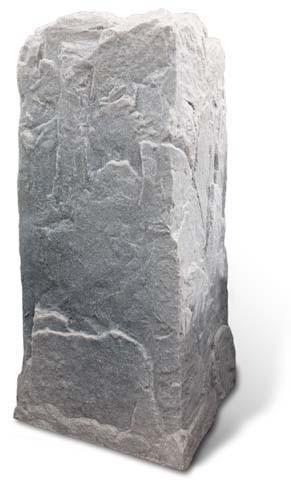 Fake Rock Pedestal Cover Model Fieldstone Picture 412