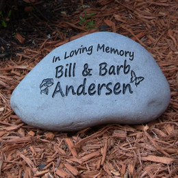 Custom Engraved Large Garden Stone - 9-11""