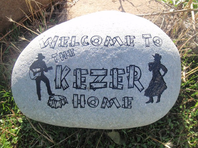Custom Engraved Large Garden Stone - 9-11