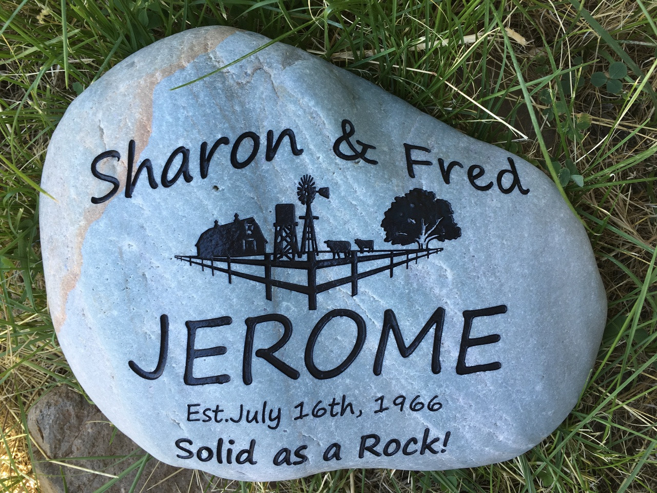 Custom engraved large garden stone 9 11 wide image 7 workwithnaturefo