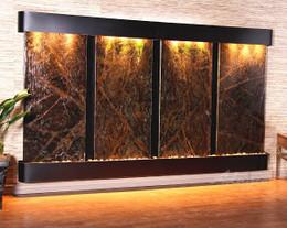 Blackened Copper w/ Green Rainforest Marble