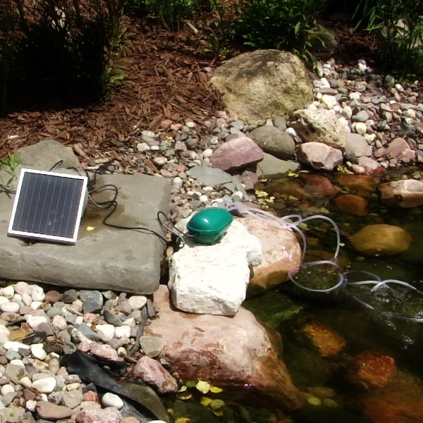 Sunnydaze Pond Air Pump Solar Oxygenator Two Air Stones Picture 722