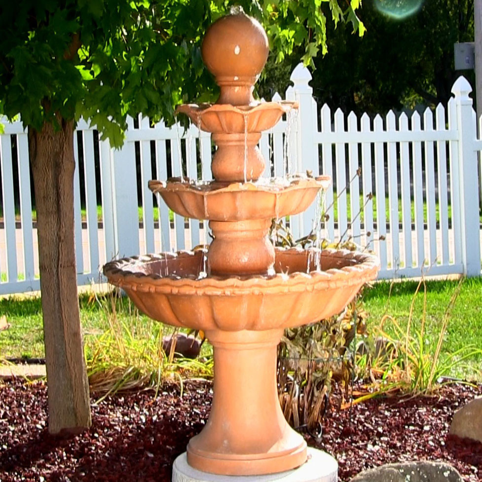 Sunnydaze Three Tier Ball Fountain Tall Picture 139