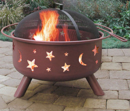 Big Sky Stars & Moons Fire Pit - Georgia Clay Color