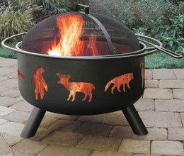 Big Sky Wildlife Fire Pit - Black