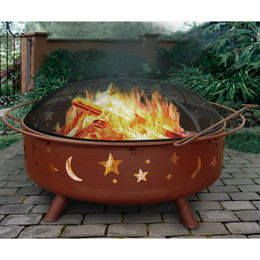Super Sky Star & Moons Fire Pit - 40 Inch
