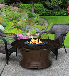 San Simeon Chat Height Fire Pit Table