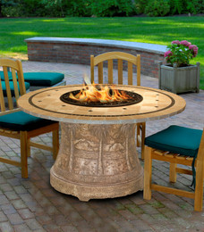California Outdoor Concepts Palm Dining Height Fire Pit Table