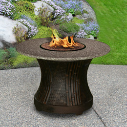 California Outdoor Concepts Tradewinds Dining Fire Pit Table