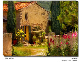 French Farm House Canvas Wall Art