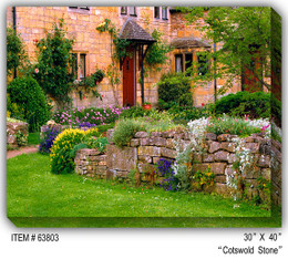 Cotswold Stone Canvas Wall Art