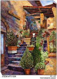 Ristorante Assisi Canvas Wall Art