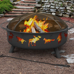 Super Sky Fire Pit Wildlife - 40 Inch