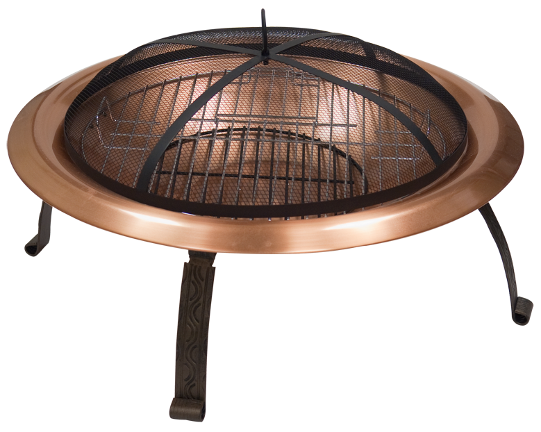 Steel Fire Pit Copper Bronze Retractable Legs Photo