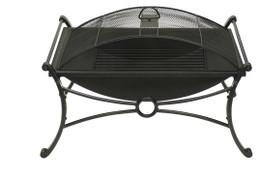 Rectangular Design Bronze & Black Fire Pit