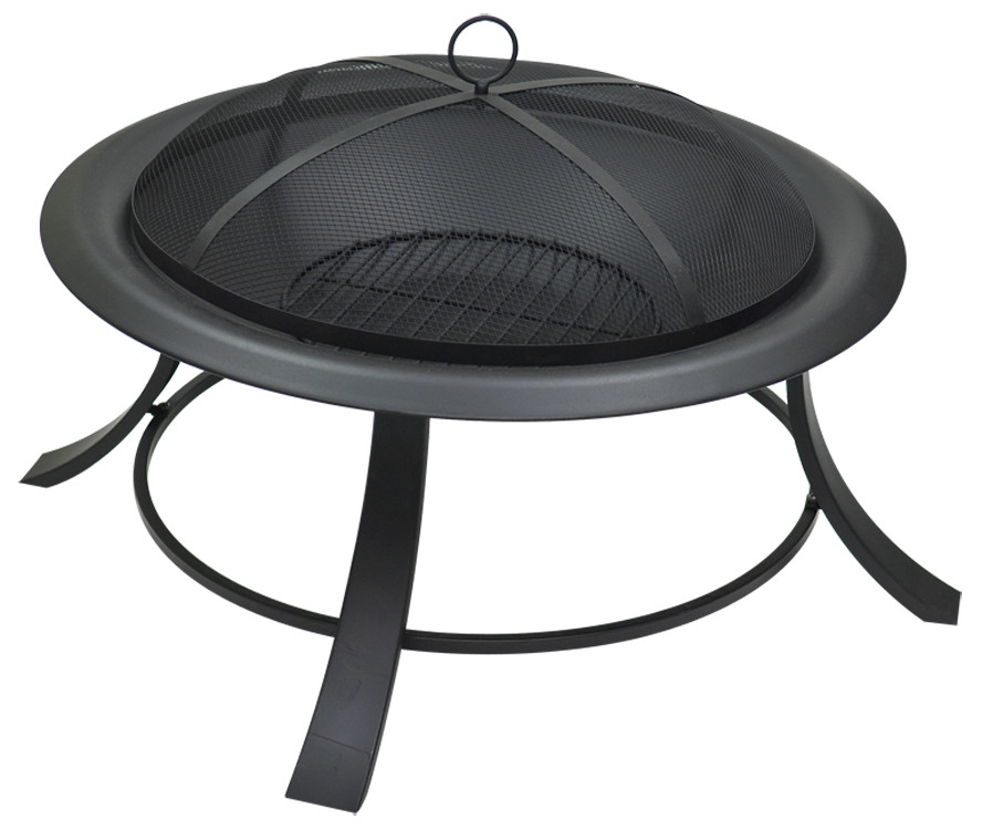 Black Steel Fire Pit Image 528