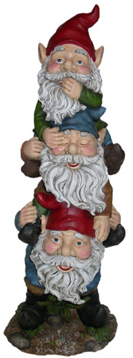 Alpine WAC Three Garden Gnomes Statue Inch Picture 790