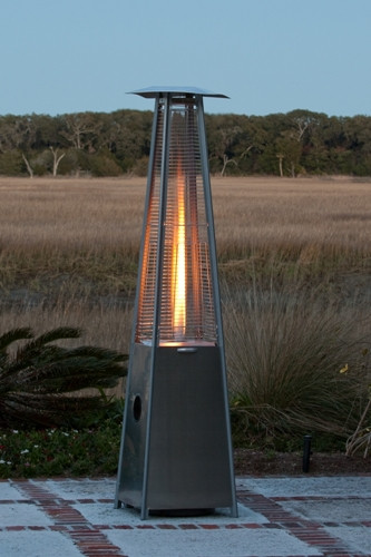 Stainless Steel Pyramid Flame Heater Photo