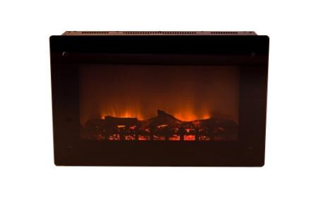 Black Wall Mounted Electric Fireplace Image 945