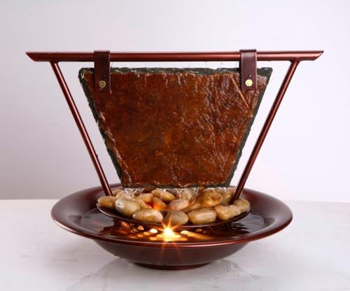 BluWorld Haiku Moon Slate Table Top Fountain Image 472