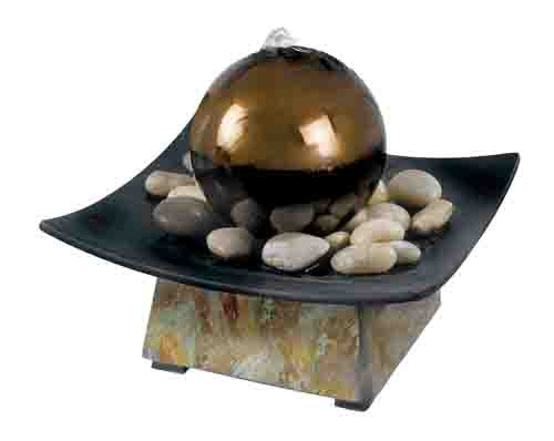 Sphere Indoor Tabletop Fountain Picture 653