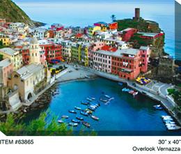 Overlook Vernazza Canvas Wall Art