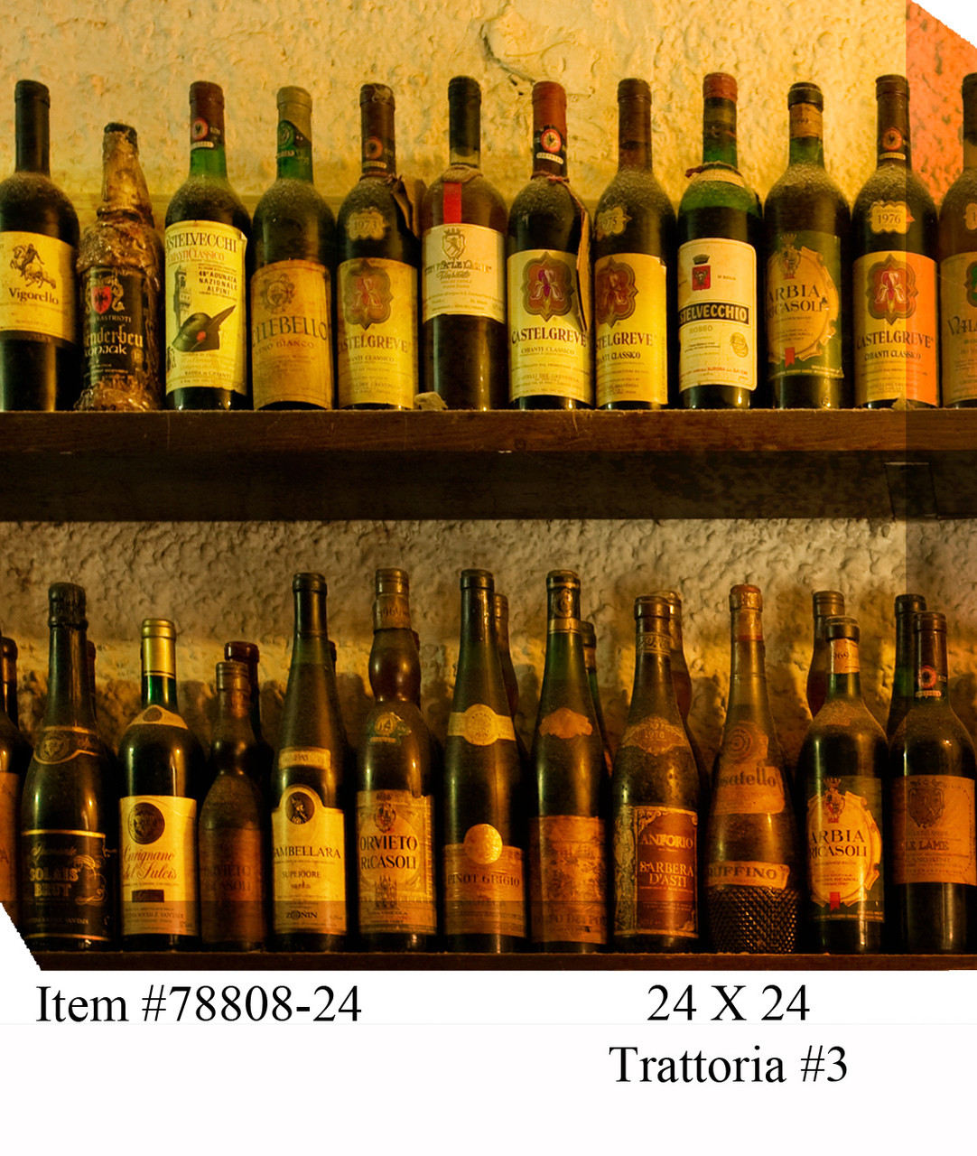 Trattoria Canvas Wall Art Picture 582