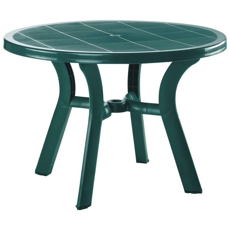 Truva Resin Round Dining Table Green HD Photo