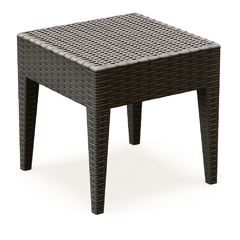Miami Square Resin Side Table Brown HD Photo