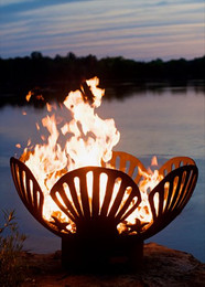 Barefoot Beach Firepit by Fire Pit Art