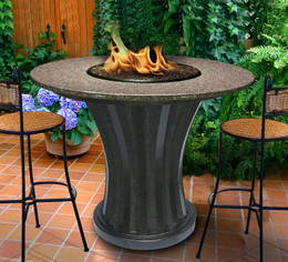 California Outdoor Concepts Rodeo Balcony Height Fire Pit Table