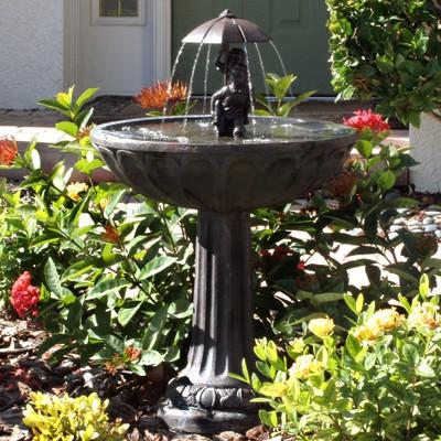 Smart Solar Boy Amp Girl Piggyback Fountain Water Fountains