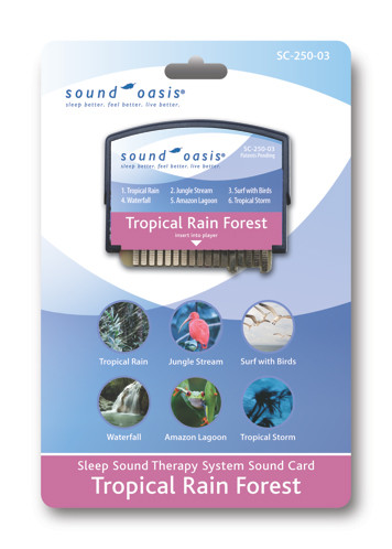 Sound Oasis Tropical Rain Forest Sound Card [Health and Beauty]