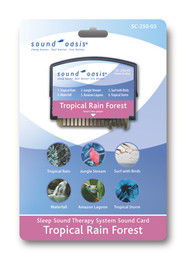 Sound Oasis Tropical Rainforest Sound Card for S-550 Sound Machine