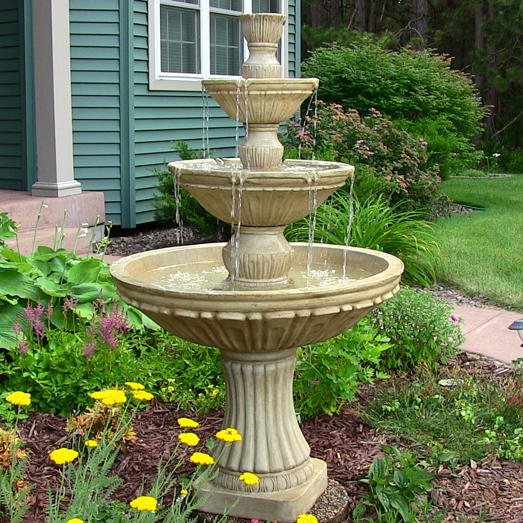 Sunnydaze Classic Tier Designer Water Fountain Tall Picture 72