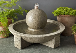 Sphere Cast Stone Table Fountain by Campania International