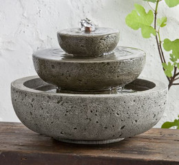Platia Cast Stone Tabletop Fountain by Campania International