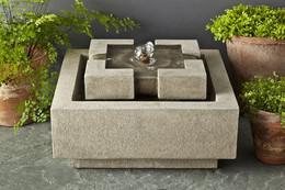 Escala Cast Stone Tabletop Fountain by Campania International
