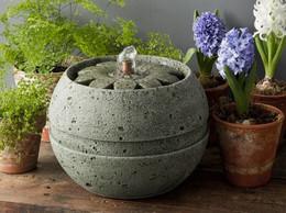 Rosette Cast Stone Table Fountain by Campania International