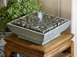 Exceptional Artifact Cast Stone Tabletop Fountain By Campania International