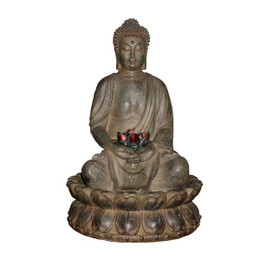 Alpine Tabletop Buddha Water Feature w/ LED Light