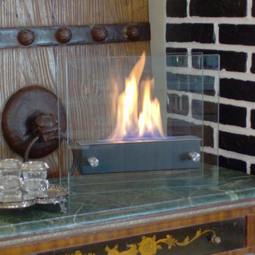 Nu Flame Irradia Noir Portable IndoorOutdoor Ethanol Fireplace Picture 546