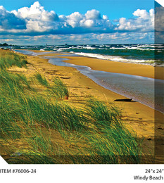 Windy Beach Canvas Wall Art